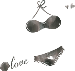 lingerie valentine's underwear bows bikini points bra spotted rose love heart erotic day loop