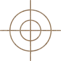 shoot shooting fit brand crime circle concentric lines scene target cross pass