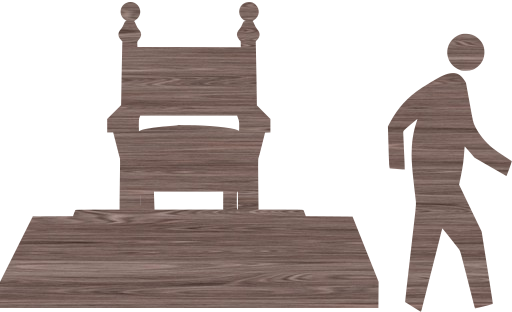crown pedestrian king throne